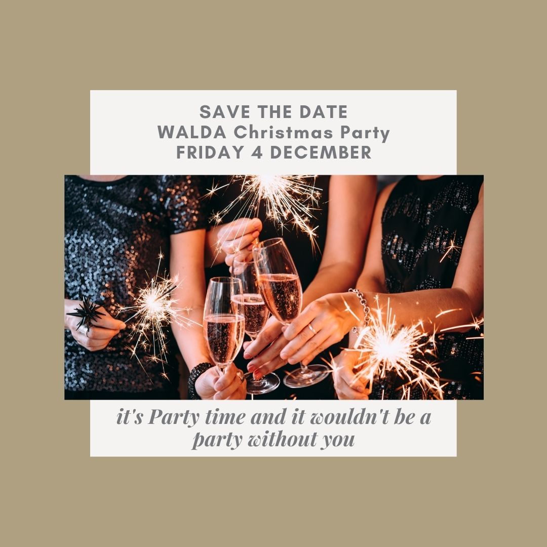WALDA Christmas Party – Save the Date!